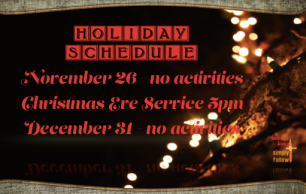 2014 Holiday Schedule